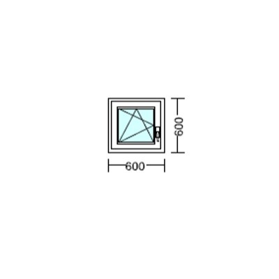 Bukó-nyíló műanyag ablak