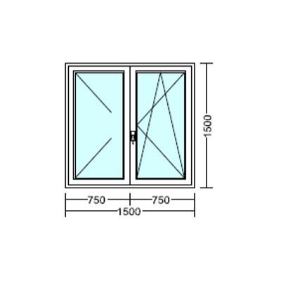 Középfelnyíló, bukó-nyíló műanyag ablak