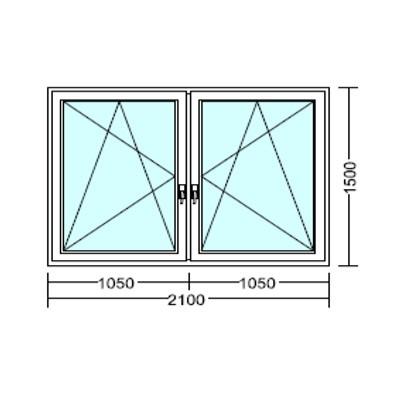 Kétszárnyú, bukó-nyíló műanyag ablak