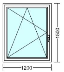 120x150 műanyag ablak árak
