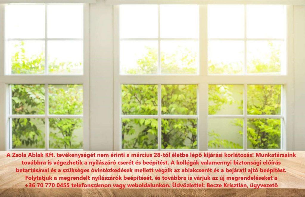 műanyag ablak csere beépítés